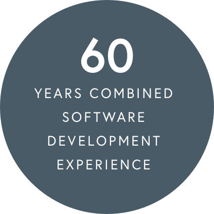 60 years combined software development experience
